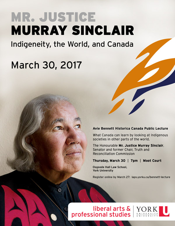 Mr. Justice Murray Sinclair, Indigeneity, the World, and Canada, March 30, 2017